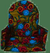 Kitsch Kitchen stoelverkleiner floral goud