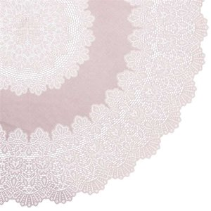 Rond tafelkleed buiten vinyl lila 180cm