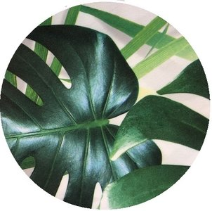 rond tafelkleed palm bladeren