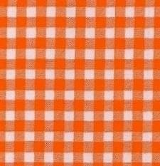 Rond Mexicaans tafelzeil ruitjes oranje (120cm)