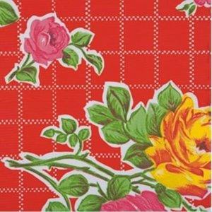 Ovaal Mexicaans tafelzeil rosendal rood