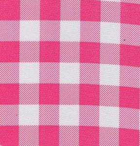 Ovaal Mexicaans tafelzeil boerenruit roze