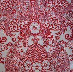SALE Mexicaans tafelzeil paraiso rood 185x120cm