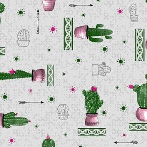 ovaal taflelzeil cactussen