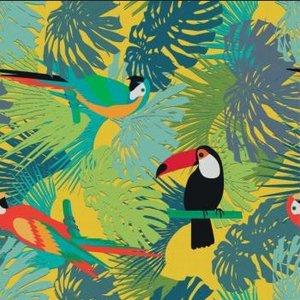 tafelzeil toekans en papegaaien