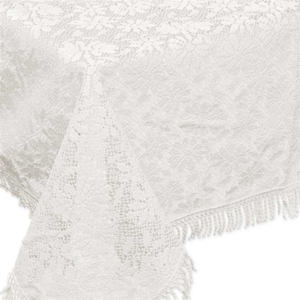 Buiten tafelkleed schuimvinyl 150x220cm gebroken wit (dikke kwaliteit)