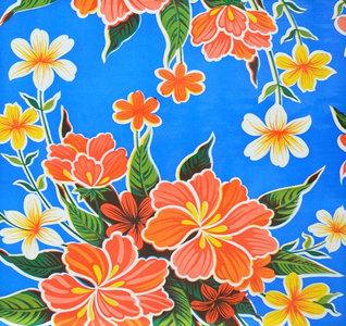 Rond Mexicaans tafelzeil fortin blauw (120cm)