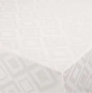 SALE tafelzeil damast roomwit 105x140cm