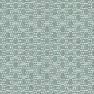 40x140cm Restje tafelzeil honingraat groen/grijs