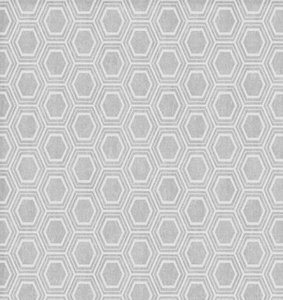 50x140cm Restje tafelzeil honingraat zilvergrijs