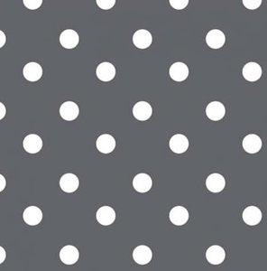 Tafelzeil donkergrijs met witte stippen