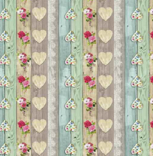 95x140cm Restje tafelzeil steigerhout love blossom