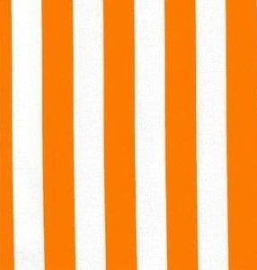 Rond Mexicaans tafelzeil strepen oranje (120cm)