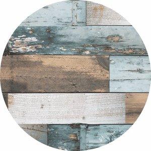 rond tafelzeil hout
