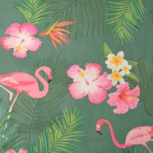 tafelzeil flamingo bloemen