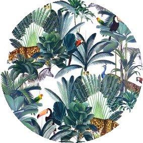 Rond tafelzeil tropical animals (140cm)