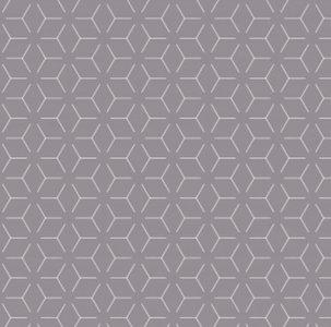 Tafelzeil geometrisch donkergrijs