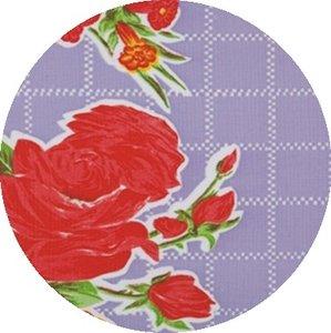 Rond Mexicaans tafelzeil rosendal lila (120cm)