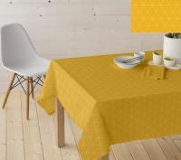 Wasbaar tafelzeil Triangle okergeel