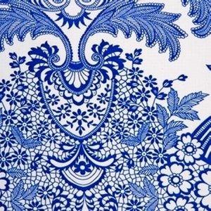 Mexicaans tafelzeil paraiso blauw