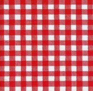 Mexicaans tafelzeil ruitjes rood