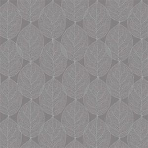 Rond tafelzeil leafs antraciet grijs (ca. 137cm)