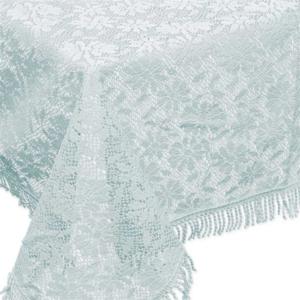 Buiten tafelkleed schuimvinyl 150x220cm ijs blauw (dikke kwaliteit)