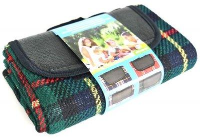 picknickkleed donkergroen