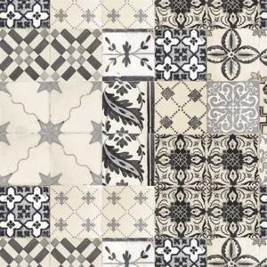 Tafelzeil Portugese tegels zwart