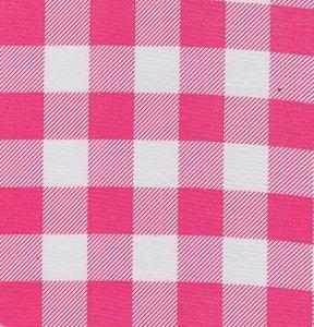 Mexicaans tafelzeil boerenruit roze