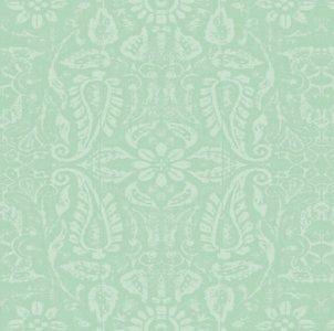 95x140cm Restje tafelzeil ornament mint groen