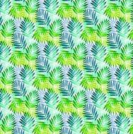 rond tafelzeil palm bladeren groen blauw